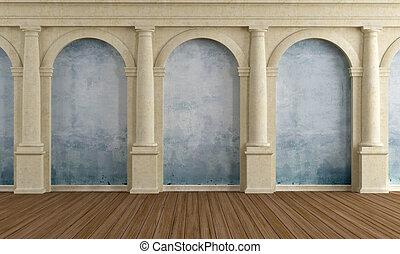 interior, de, um, antigas, repouso luxuoso