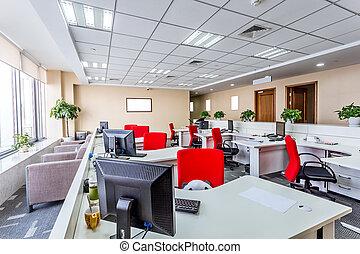 interior, de, um, modernos, escritório