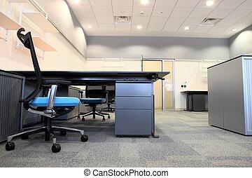 interior, de, um, novo, escritório