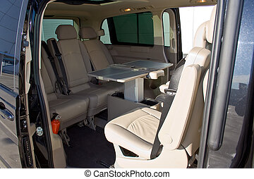 interior, de, un, minivan