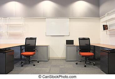 interior, de, un, nuevo, oficina