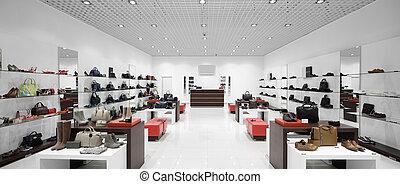 interior, de, zapatería, en, moderno, europeo, alameda
