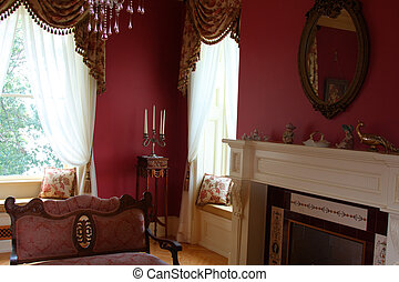 interior decoration done in old victorian charm style