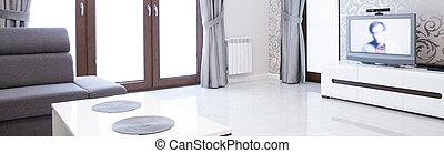 interior, desenho, sala, luxo