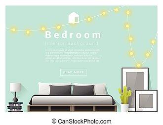 Interior design bedroom background