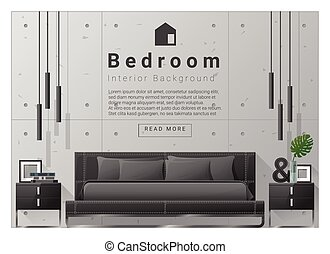 Interior design bedroom background