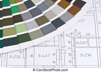 interior design - color palette is based on the layout of...