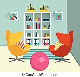 Interior design. Flat design vector illustration.