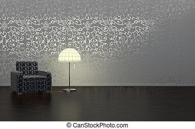 Interior design - luxurios interior designwith moody...