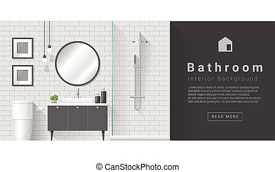 Interior design Modern bathroom background 4 - Interior...
