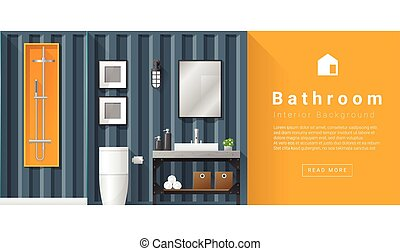 Interior design Modern bathroom background 6 - Interior...
