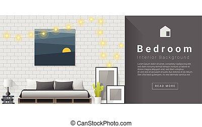 Interior design Modern bedroom background 1