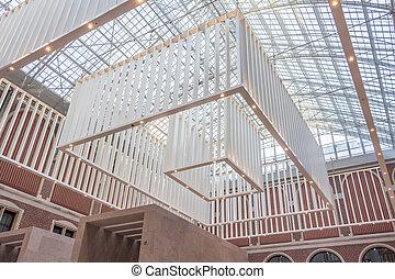 Interior design of a big hall