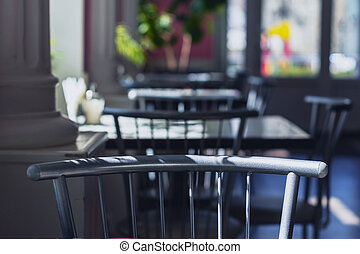Interior design of a modern style, Coffee shop, cafe.