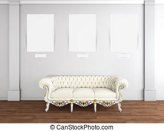 interior design of living room with sofa
