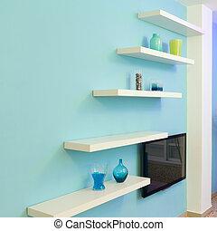 Interior design - Shelves Interior design in a new house