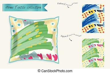 Realistic satin decorative pillow mock up