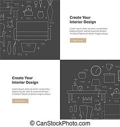Interior Design web banner.
