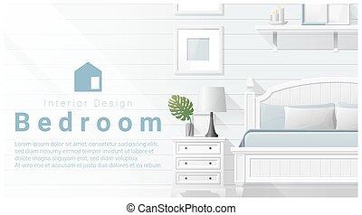 Interior design with Modern bedroom background 5