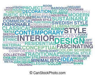 Interior design. Word cloud concept