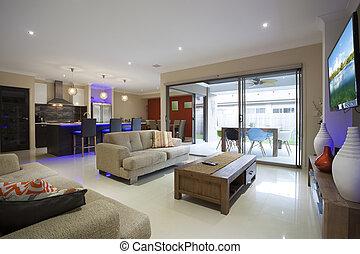 interior, elegante, hogar