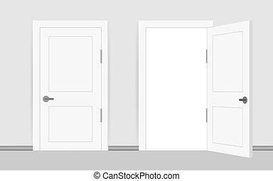 interior, empresa / negocio, abierto, door., oficina, frente, cerrado, success., design., concept., vista., fin, hogar