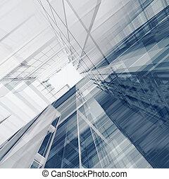 Interior engineering. Architecture 3d render