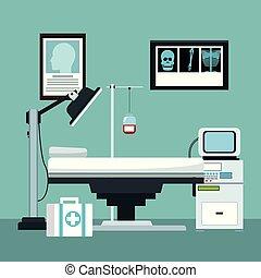 interior, escritório, doutor