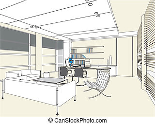 interior escritório, sala