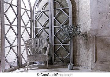 interior, estilo, apartamento, aristocrático, clásico