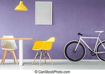 interior, estilo, mínimo, muebles
