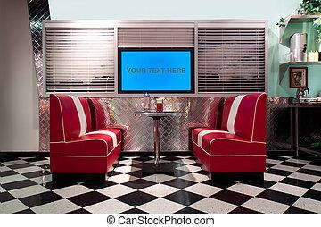 interior, estilo, retro