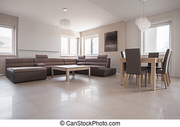 interior, exclusivo, diseño, beige