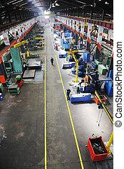 interior, fábrica
