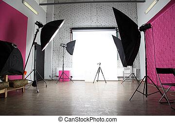 interior, foto, moderno, estudio
