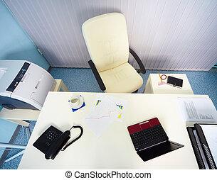 interior, gerente, -, local trabalho, escritório