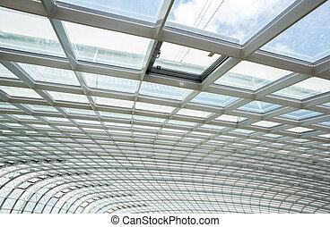 interior glass roof