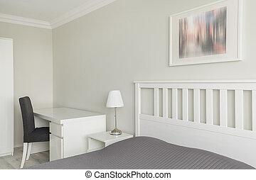 interior, gris, blanco, contemporáneo