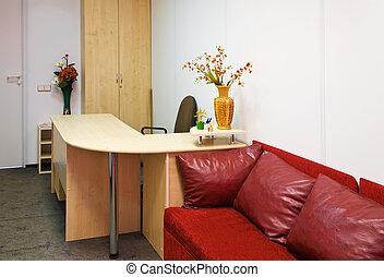 interior, habitación, oficina