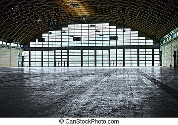 interior, hangar