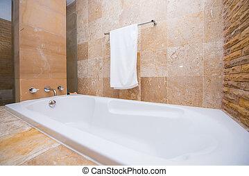 interior, hogar, cuarto de baño, diseño