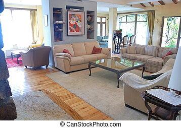 interior, hogar, lujo, relajante