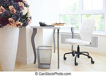 interior, hogar, moderno, oficina