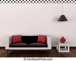 interior, i, den, moderne rum