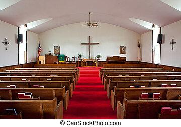 interior, igreja rural