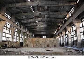 interior, industrial, abandonado