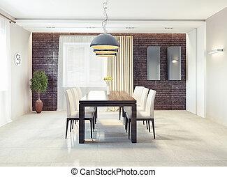 interior, jantando quarto