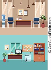 interior, jogo, escritório