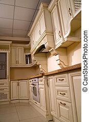 interior kitchen in the apartment