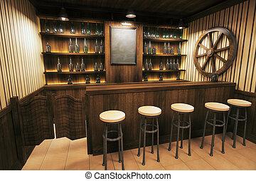 interior, lado, bar